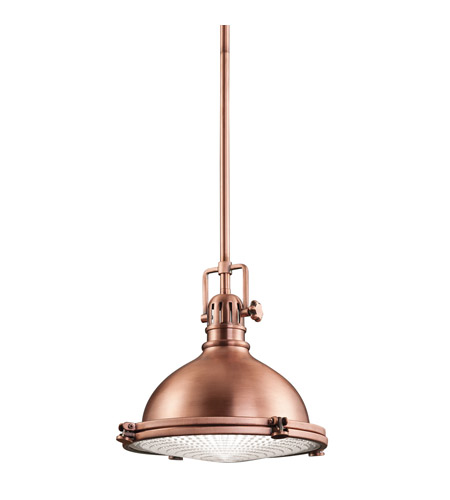 Kichler Hatteras Bay 1 Light Pendant in Antique Copper 2665ACO photo