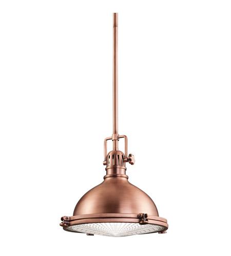 Kichler Hatteras Bay 1 Light Pendant in Antique Copper 2665ACO