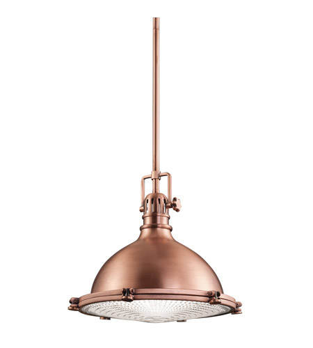 Kichler Hatteras Bay 1 Light Pendant in Antique Copper 2666ACO