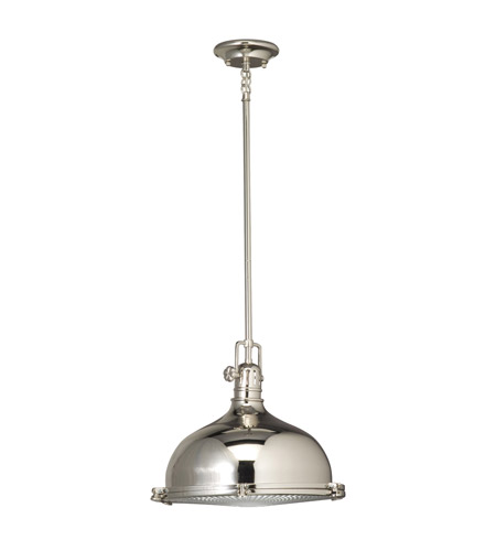 Kichler Lighting Hatteras Bay 1 Light Pendant in Polished Nickel 2666PN