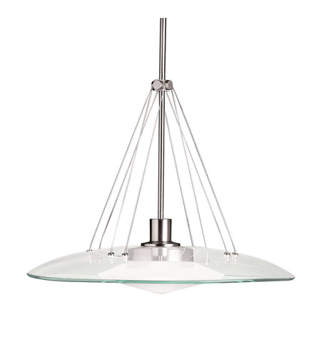 Kichler 2667NI Structures 1 Light 18 inch Brushed Nickel Pendant Ceiling Light photo