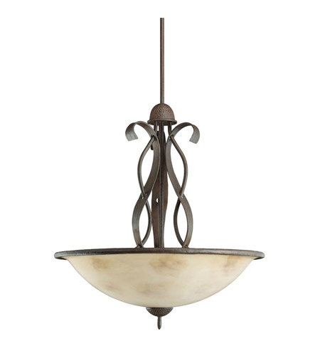 Kichler Lighting High Country 3 Light Inverted Pendant in Old Iron 2671OI photo