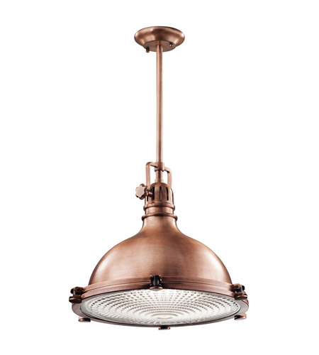 Kichler Hatteras Bay 1 Light Pendant in Antique Copper 2682ACO