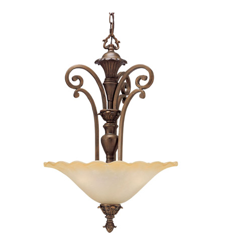 Kichler Lighting Cheswick 3 Light Inverted Pendant in Parisian Bronze 2698PRZ photo