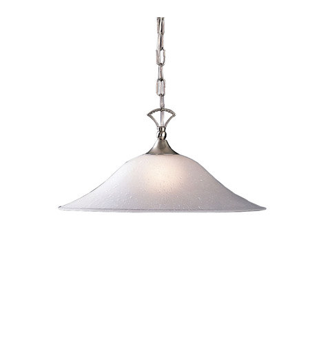 Kichler 2702NI Hastings 1 Light 18 inch Brushed Nickel Pendant Ceiling Light in Clear Seedy photo