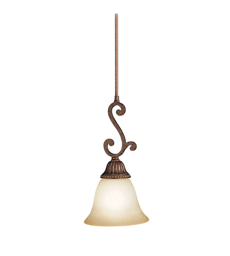 Kichler Lighting Larissa 1 Light Mini Pendant in Tannery Bronze w/ Gold Accent 2703TZG