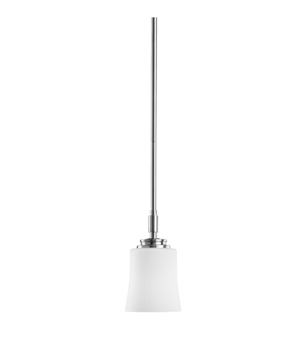 Kichler Lighting Wharton 1 Light Mini Pendant in Brushed Nickel 2709NI