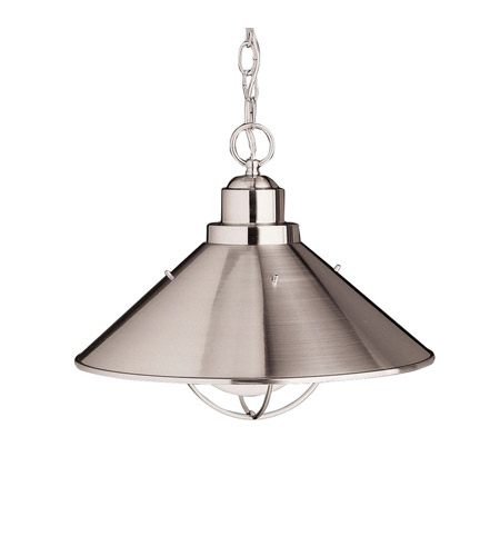 Kichler Lighting Seaside 1 Light Pendant in Brushed Nickel 2713NI