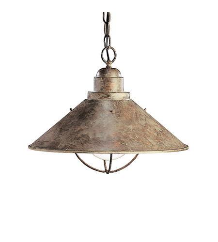 Kichler Lighting Seaside 1 Light Pendant in Olde Brick 2713OB photo