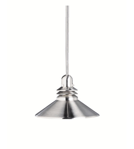 Kichler Lighting Grenoble 1 Light Mini Pendant in Brushed Nickel 2714NI