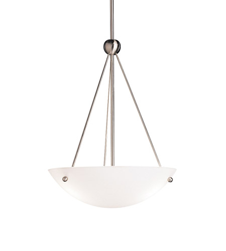 Kichler Lighting Family Space 3 Light Inverted Pendant in Brushed Nickel 2752NI