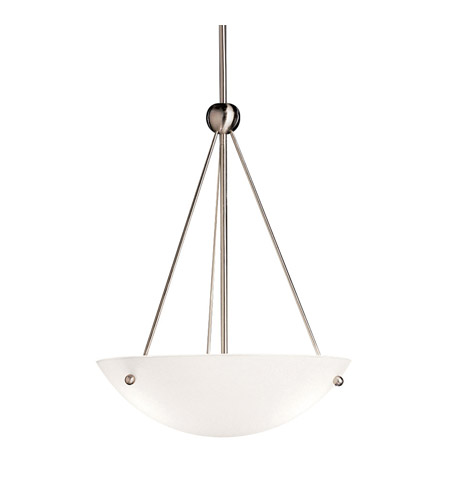 Kichler Lighting Signature 1 Light Fluorescent Pendant in Brushed Nickel 2752NIFL photo