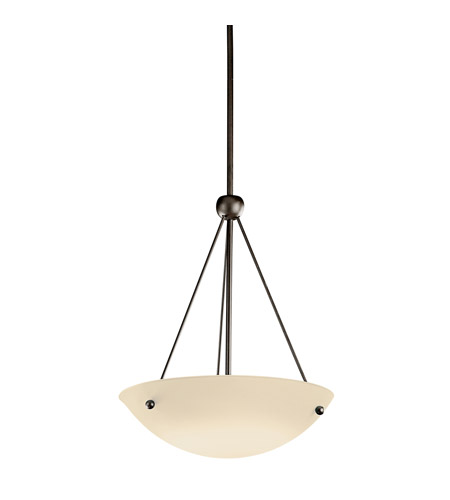 Kichler Lighting Signature 1 Light Fluorescent Pendant in Olde Bronze 2752OZFL