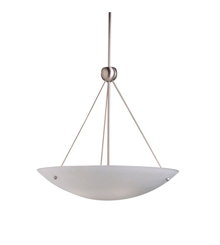 Kichler Lighting Family Space 4 Light Inverted Pendant in Brushed Nickel 2754NI