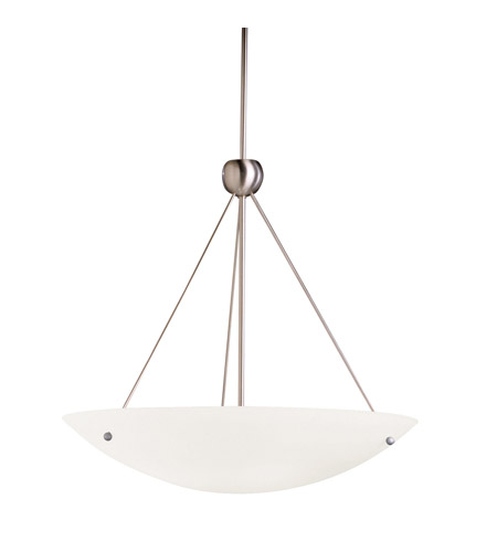 Kichler Lighting Signature 1 Light Fluorescent Pendant in Brushed Nickel 2754NIFL photo