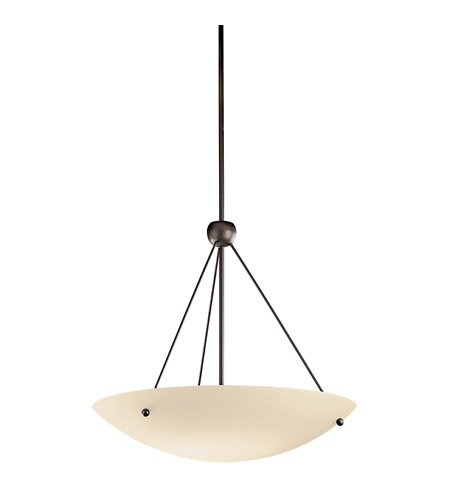 Kichler Lighting Signature 1 Light Fluorescent Pendant in Olde Bronze 2754OZFL