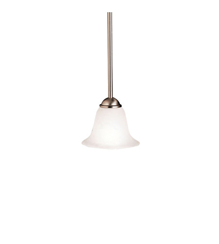Kichler 2771NI Dover 1 Light 7 inch Brushed Nickel Mini Pendant Ceiling Light photo