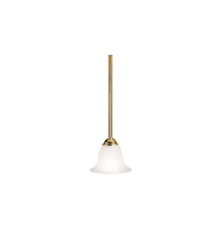 Kichler Lighting Dover 1 Light Mini Pendant in Polished Brass 2771PB