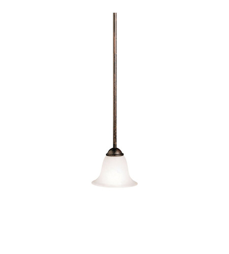 Kichler Lighting Dover 1 Light Mini Pendant in Tannery Bronze 2771TZ