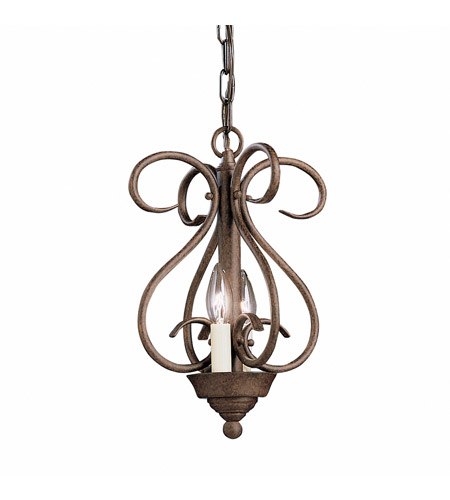Kichler Lighting Norwich 2 Light Foyer Chain Hung in Tannery Bronze 2800TZ photo