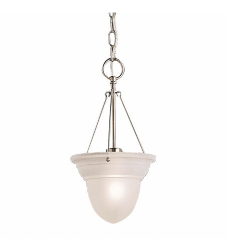 Kichler Lighting Cove Molding Top Glass 1 Light Foyer Chain Hung in Brushed Nickel 2905NI
