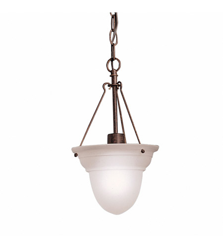 Kichler Lighting Cove Molding Top Glass 1 Light Foyer Chain Hung in Tannery Bronze 2905TZ