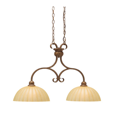 Kichler Lighting Northam 2 Light Island Light in Lincoln Bronze 2922LBZ photo