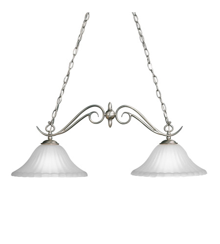Kichler Lighting Willowmore 2 Light Island Light in Brushed Nickel 2929NI