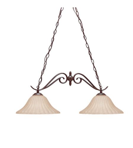 Kichler 2929TZ Willowmore 2 Light 34 inch Tannery Bronze Island Light Ceiling Light photo