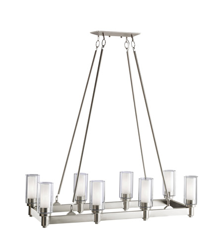 Kichler 2943NI Circolo 8 Light 14 Inch Brushed Nickel Chandelier Ceiling