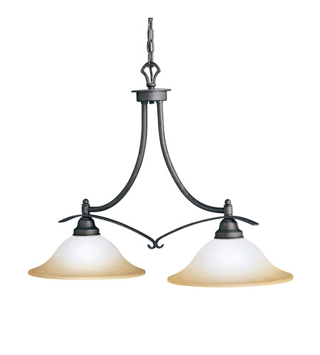 Kichler Lighting Pomeroy 2 Light Island Light in Distressed Black 2944DBK photo