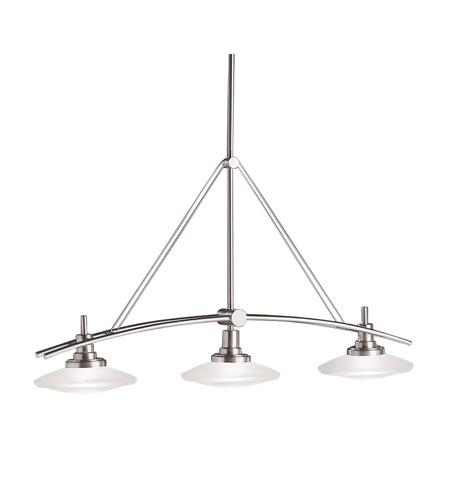 Kichler 2955NI Structures 3 Light 37 inch Brushed Nickel Island Light Ceiling Light photo