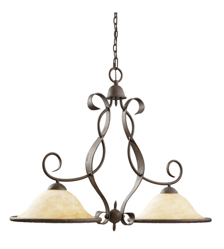 Kichler Lighting High Country 2 Light Island Light in Old Iron 2971OI photo