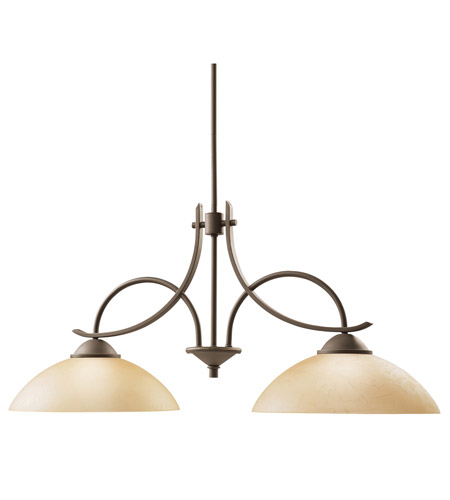Kichler Lighting Olympia 2 Light Island Light in Olde Bronze 2978OZ
