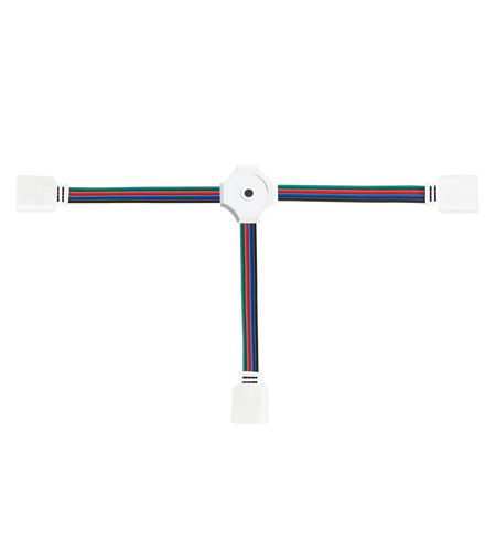 Kichler Lighting LED Tape Connector 3-Way RGB in White Material 2C3RGBWH