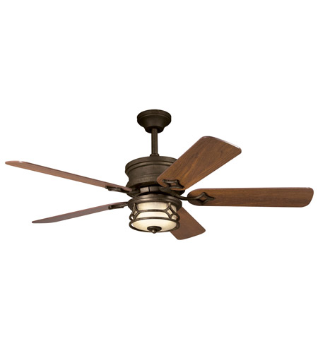 Kichler Lighting Chicago Fan in Aged Bronze 300001AGZ photo