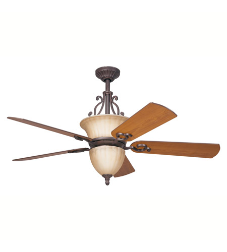 Kichler Lighting Cottage Grove Fan In Carre Bronze 300003CZ