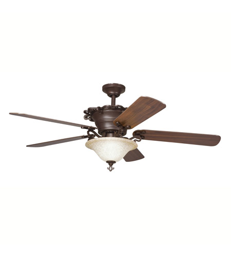 Kichler Lighting Wilton 3 Light Fan in Carre Bronze 300006CZ photo