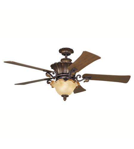 Kichler Lighting Rochelle 3 Light Fan in Carre Bronze 300007CZ photo