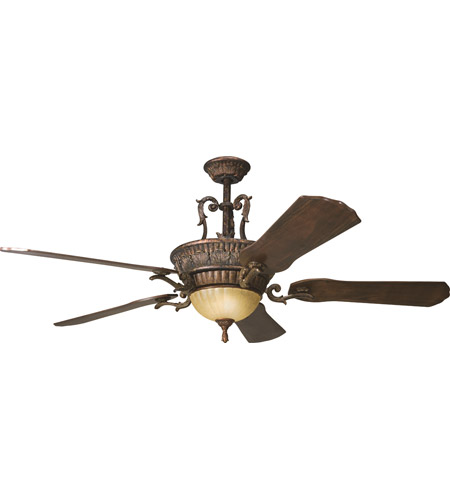Kichler 300008BKZ Kimberley 60 inch Berkshire Bronze with Dark Cherry Blades Fan photo