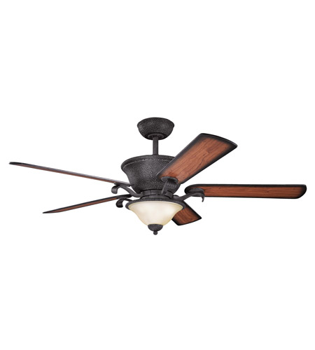 Kichler High Country Fan in Distressed Black 300010DBK photo
