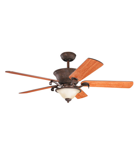Kichler High Country Fan in Tannery Bronze W/ Gold Accent 300010TZG photo