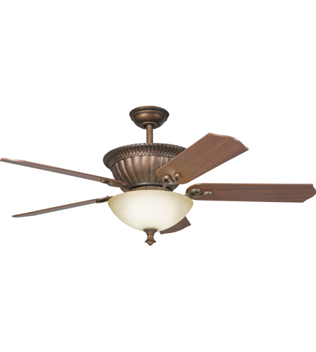 Kichler 300012TZG Larissa 52 inch Tannery Bronze w/ Gold Accent with Walnut Blades Fan photo