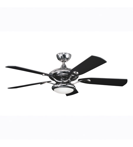 Kichler Lighting Aldrin Fan in Midnight Chrome 300014MCH