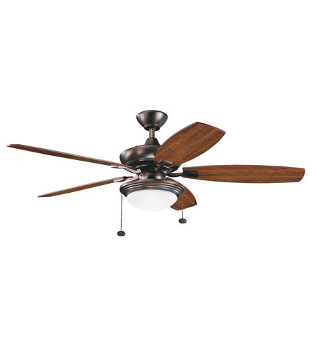 Kichler 300016OBB Canfield Select Oil Brushed Bronze with Walnut Blades Fan photo