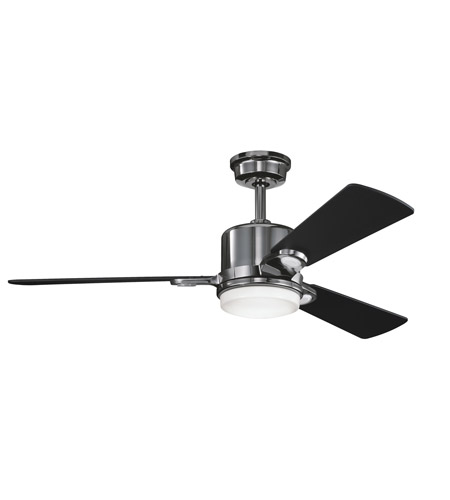 Kichler 300017MCH Celino Midnight Chrome with Satin Black Blades Fan photo
