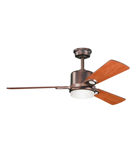 Kichler 300017OBB Celino Oil Brushed Bronze with Walnut Blades Fan photo