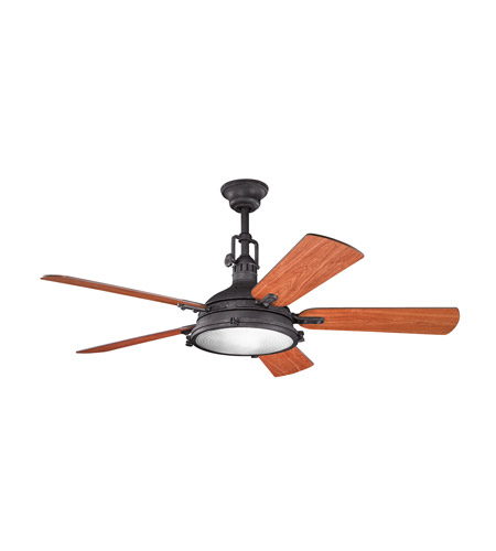 Kichler 300018DBK Hatteras Bay 56 inch Distressed Black with Walnut MS-97503 Blades Fan  photo