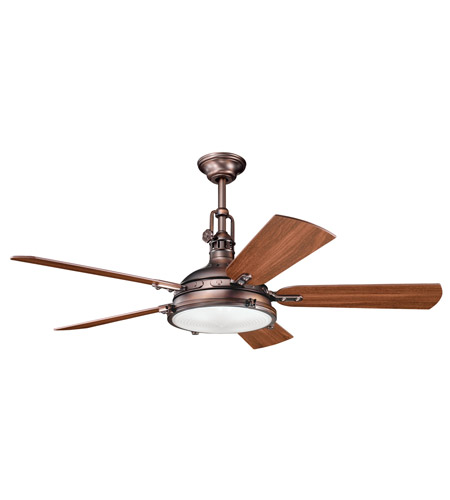Kichler 300018OBB Hatteras Bay Oil Brushed Bronze with Walnut Blades Fan photo