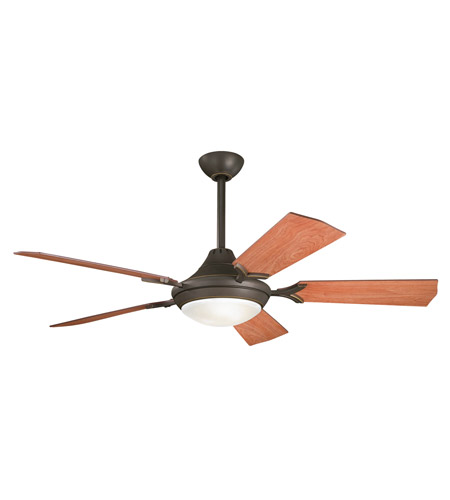 Kichler 300019OZ Bellamy Olde Bronze with Walnut Blades Fan photo